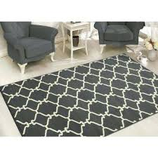 at home area rugs collection trellis design light grey 8 ft x ft area rug