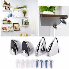 polished chrome glass shelf support clamp brackets bathroom for shelves cod