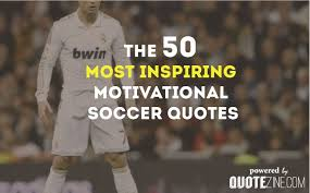 motivational soccer quote with image