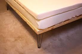 wood bed frame plans reclaimed diy