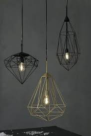 diamond pendant light diamonds lamps by geometric diamond cage pendant light