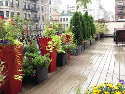 Small Picture NYC Roof Garden Terrace Composite Deck Container Garden