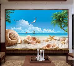3d Behang Foto Behang Custom Muurschildering Woonkamer Zomer Zee