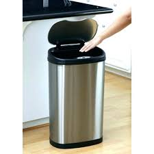 stainless steel kitchen trash can. Stainless Steel Trash Cans Walmart Cool Garbage Kitchen Wall Mart To For Can