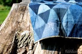 Denim Triangle Quilt | Modern Handcraft & Modern Handcraft // Denim Triangle Quilt Adamdwight.com
