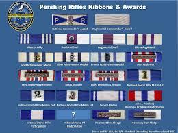 P R Awards Ribbons Pershing Rifles History