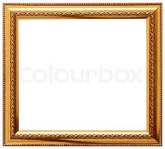 frame design. Golden Spiral Flower Frame. Wood Frame Simple Design, Stock Photo Design