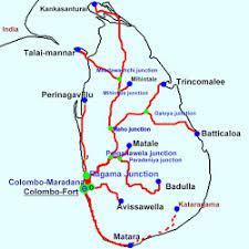sri lanka railway maps railway network map including all railway tracks junctions and terminus