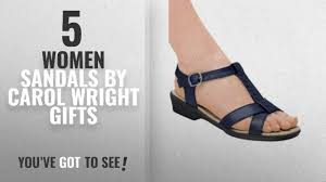 top 5 carol wright gifts women sandals 2018 t strap sandal navy size 6 wide