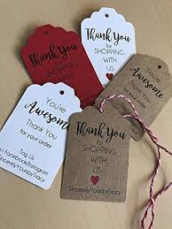 Amazon Com Small Business Tags Small Business Thank You Small