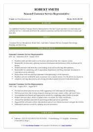 Customer Service Job Description Retail Seasonal Customer Service Representative Resume Samples