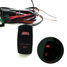 12v led light bar laser rocker on off switch wiring harness 40a 12v led light bar laser rocker on off switch wiring harness 40a relay fuse red us99