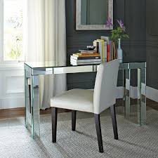 Office desk mirror Office Table Contemporary Mirrored Desk Mirrordesk Pinterest Stylish Writing Desks For New School Year Furniture