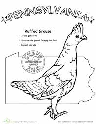 8d29c03ce96249ad902e979ac178037f pennsylvania state bird animals, coloring and animal coloring pages on states worksheets