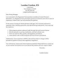 Resume Example Registered Nurse Cover Letter New Graduate Resume