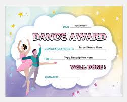 Dance Award Certificate Best Dance Award Certificate Templates Professional