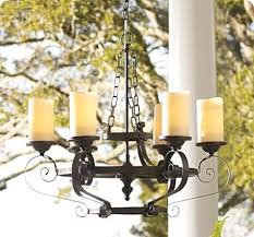 bright design outdoor candle chandelier non electric light fixture with