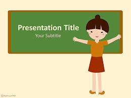 Teaching Powerpoint Backgrounds Free Kindergarten Teacher Powerpoint Template Download