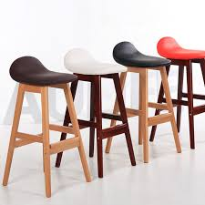 counter height kitchen chairs. Vintage Wood Bar Stool Dining Chair Counter Height Kitchen Breakfast Barstool Furniture Modern Chairs