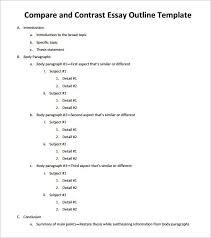 Compare And Contrast Essay Outlines Pin By K Biederman On Kids School Learning Essay Template Essay