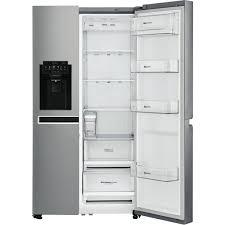 Top Ten Side By Side Refrigerators Lg Gs L668pnl 668l Side By Side Refrigerator At The Good Guys