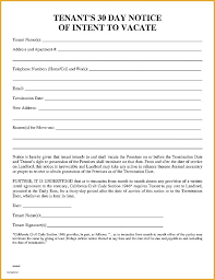 day notice to landlord template sle vacate apartment letter of 30 tenant noti