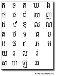 Cambodian Alphabet Khmer Consonants Cambodian Art
