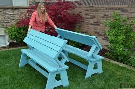 convertible garden table bench plan