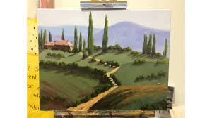 tuscany landscape painting step by step demonstration mooremethod you