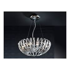 Modern Chrome Pendant Light Clanbay Sl Modern Chrome Open Oval Ceiling Pendant 9 Light