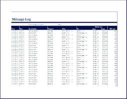 Mileage Log Template Excel Logs Compliant Irs Approved Free New