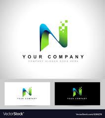 N Logo Design Vector Abstract Letter N Logo Design