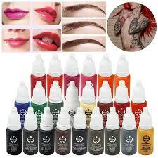 23 Barev Profesionální Make Up Tattoo Inkoust Kozmetické Obočí Oční Linky Lip Tetování Inkoust Pigment Tělo Tetování Umění At Vova