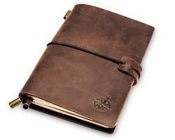 leather pocket notebook small refillable travel journal passport size perfect for writing gifts travelers professionals as a diary or organizer