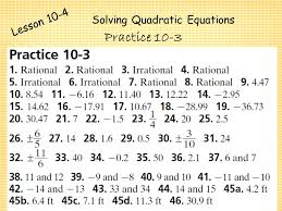 20 solving quadratic equations