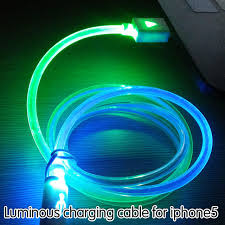 1m 30ft led light rainbow charging cable for iphone 5 5s 6 6plus ipad 4 air2