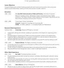 Chronological Format Resume Example Chronological Resume Example