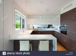 Elegant Modern Kitchen Design Luxury House Interior Modern Elegant Kitchen Stock Photo