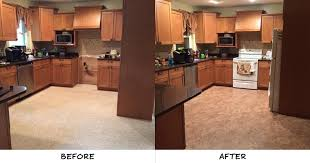 anna s kitchen floor seemed to fade into the background until she installed our venetian cream resilient vinyl the surface features the real look