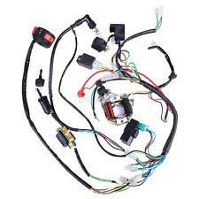 atv harness 50cc 70cc 110cc 125cc full electrics cdi coil wiring harness atv quad stator