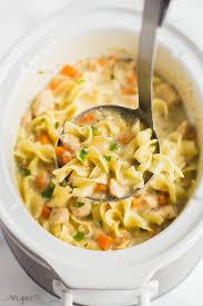 slow cooker creamy en noodle soup