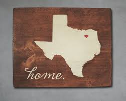 texas state wood art personalized home decor wall art