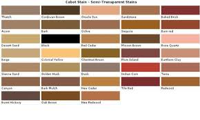 Cabot Solid Stain Color Chart Cabot Transparent Wood Stain Colors Fence And Deck Stains
