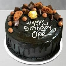 send happy birthday chocolate cake with