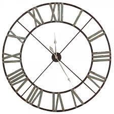 large iron wall clock indoor roman