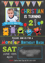 Lil Monster Birthday Invitations Karas Party Ideas Darling Little Monster Birthday Party Karas