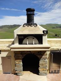 Pizza Oven Outdoor Kitchen Tuscan Themed Outdoor Kitchen W Earth Stone Pizza Oven And Fire