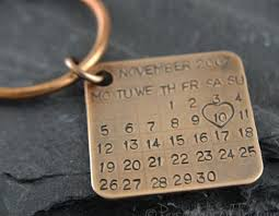 solid bronze key ring this solid bronze 8th wedding anniversary