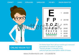 Free Online Eye Test Chart Medical Eye Diagnosticonline Vision Testweb Page Stock
