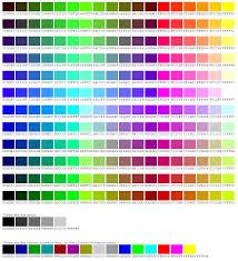 Pbwikifanclub Html Color Chart